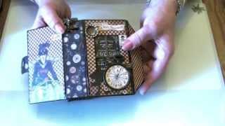 �������� ���� Steampunk Spells Matchbook Box Mini Album ������