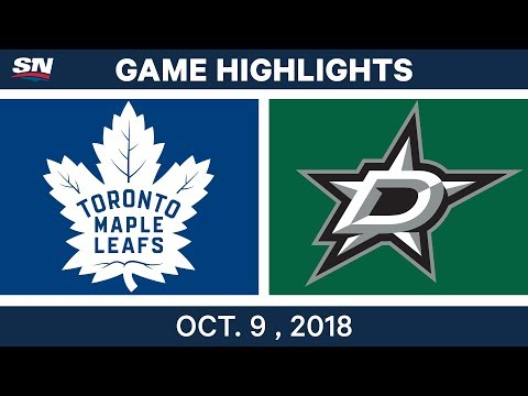 NHL Highlights | Maple Leafs vs. Stars - Oct. 09, 2018