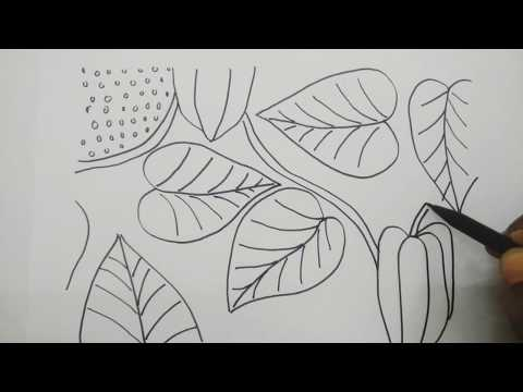 Hd1080p Cara Menggambar Batik Sederhana Dan Mudah Motif Pasuruhan Dengan Tema Tumbuhan Bunga Youtube