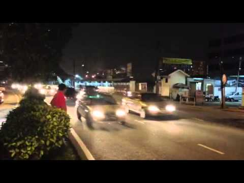 Busy Road in Evening at Kuala Lumpur