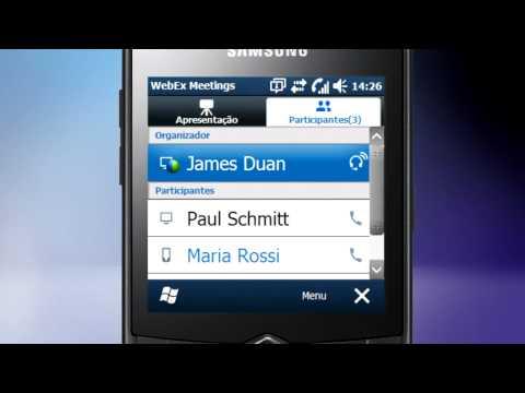 WebEx no Samsung OMNIA 735