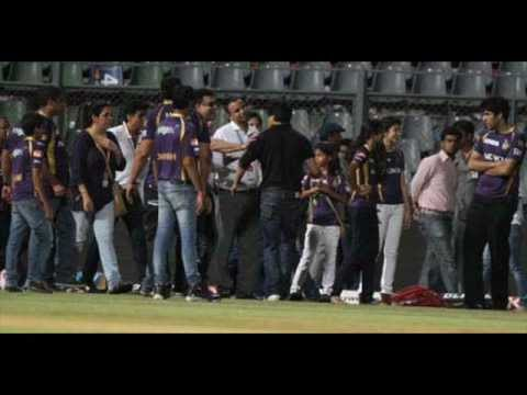 Shahrukh khan fight with security on IPL match at Wankhede Stadium with background sound
