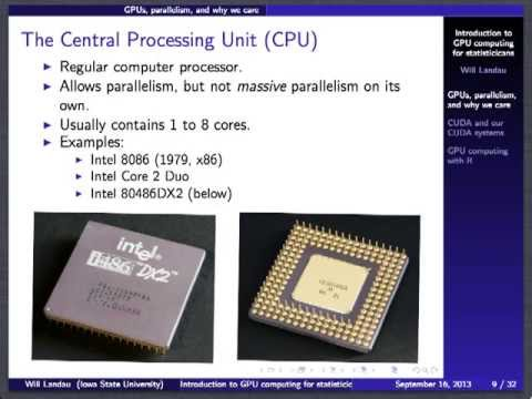 Introduction to GPU computing for statisticians (fall 2013)