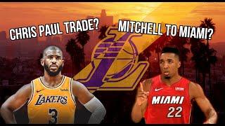 Donovan Mitchell Miami Heat Trade? Chris Paul Lakers Trade? Lakers Bench Danny Green? Lakers Rumors