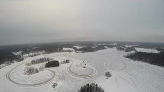 Kopterikuvausta Akkojärvellä Alavudella 29.1.2017