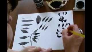 Техника рисования Сумие урок 1 рисование