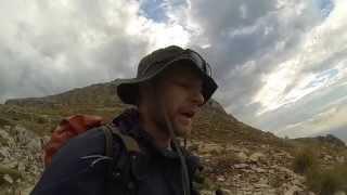 Scuppered wild camp atop Mola de s'Esclop in Mallorca