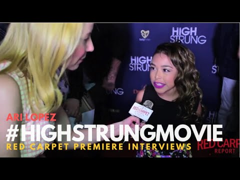 "Ari Lopez #ALDC #DanceMoms at the Red Carpet Premiere for ""High Strung"" #‎HighStrungMovie"