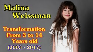Malina Weissman transformation from 3 to 14 years old