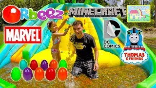 1,000,000 ORBEEZ CHALLENGE GAME SURPRISE EGGS + Minecraft DC Comics Thomas Angry Birds Surprise Toys