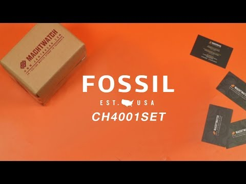 [What's Inside The Box?] Fossil CH4001SET Ladies Abilene Chronograph Jewelry Box Set