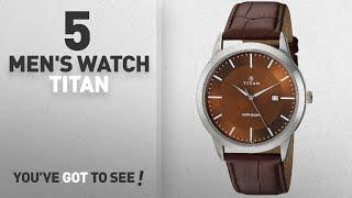 Top 10 Men's Watch Titan [2018]: Titan Men's 'Neo' Quartz Metal and Leather Casual Watch,