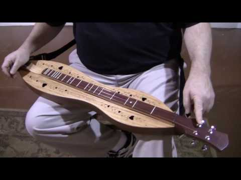 Folkcraft Instruments mountain dulcimer demonstration, serial number 20161621