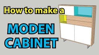 Video How to make a MODERN CABINET | SketchUp Tutorial 2017 download MP3, 3GP, MP4, WEBM, AVI, FLV Desember 2017