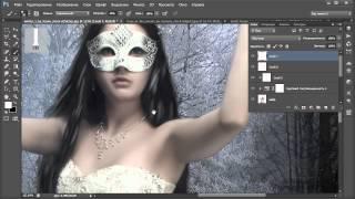Зимняя принцесса - фотошоп уроки