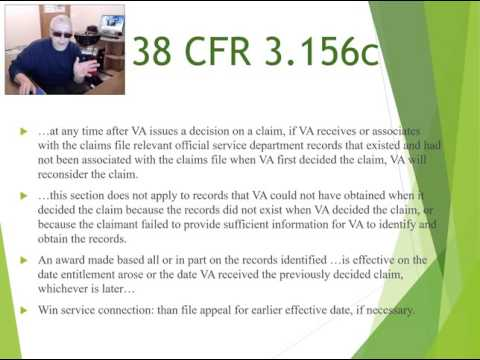 VA Claim for Compensation Effective Dates