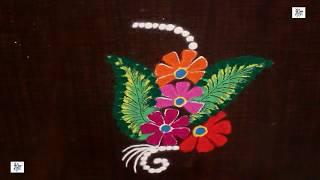 learn to draw Simple Rangoli Kolam || maitrin 2018