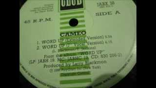 "Cameo  - Word up. 1986 (12"" Extended mix)"