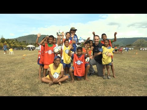 Young athletes and Samoan school children unleash the power of sport