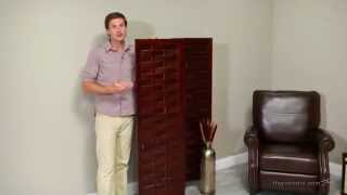Orimono Woven Wood Room Divider - Espresso - Product Review Video