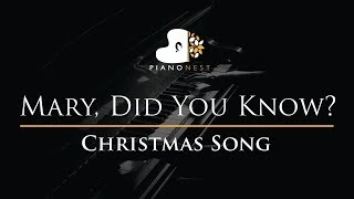 Mary, Did You Know - Christmas Song - Piano Karaoke Instrumental Cover with Lyrics