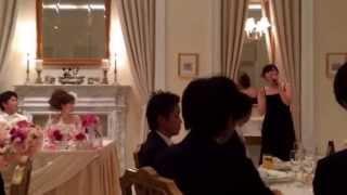 2014♥︎3/8 ともさんとよっちゃんの結婚式♥   めちゃ緊張の中、 挨拶で笑...