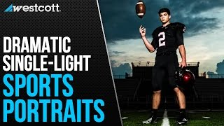 How to Capture Dramatic Senior Sports Portraits with Only One Light