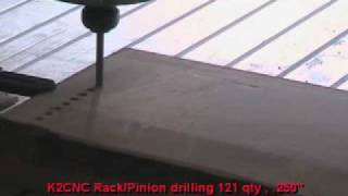 K2 Cnc Router Machine Drilling 121 Holes Into Wood