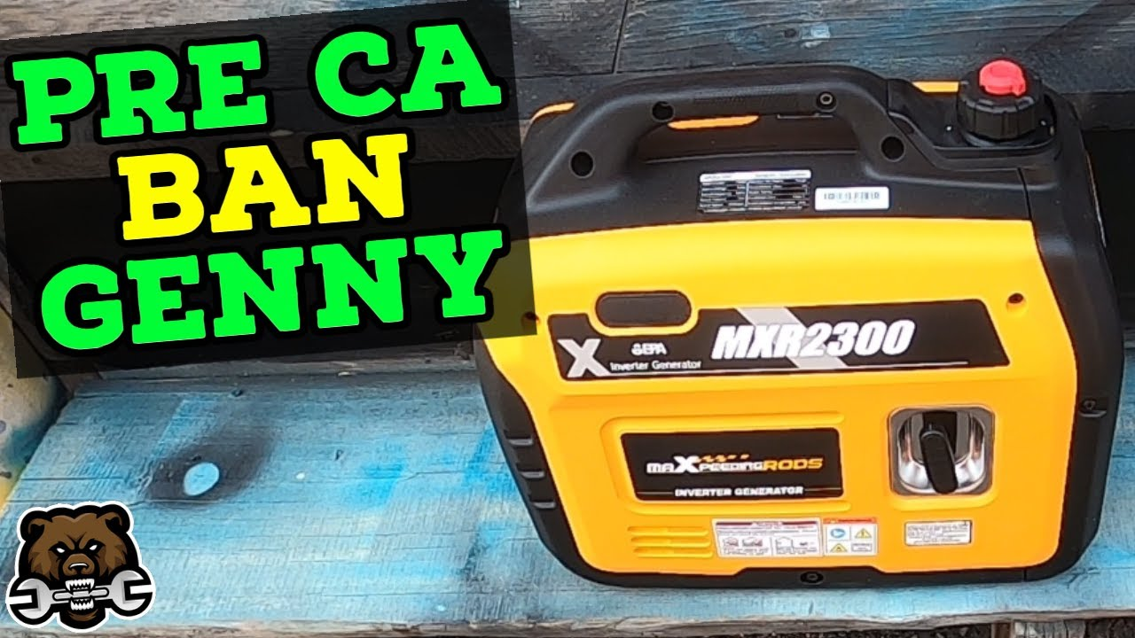 Hands on with the MXR2300 (Pre California Ban) Inverter Generator