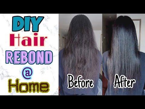 DIY Hair Rebonding At Home!!