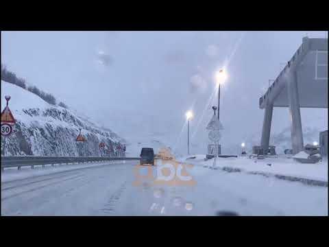 Rruga e Kombit akull, minus 8 grad ene Kukes | ABC News Albania