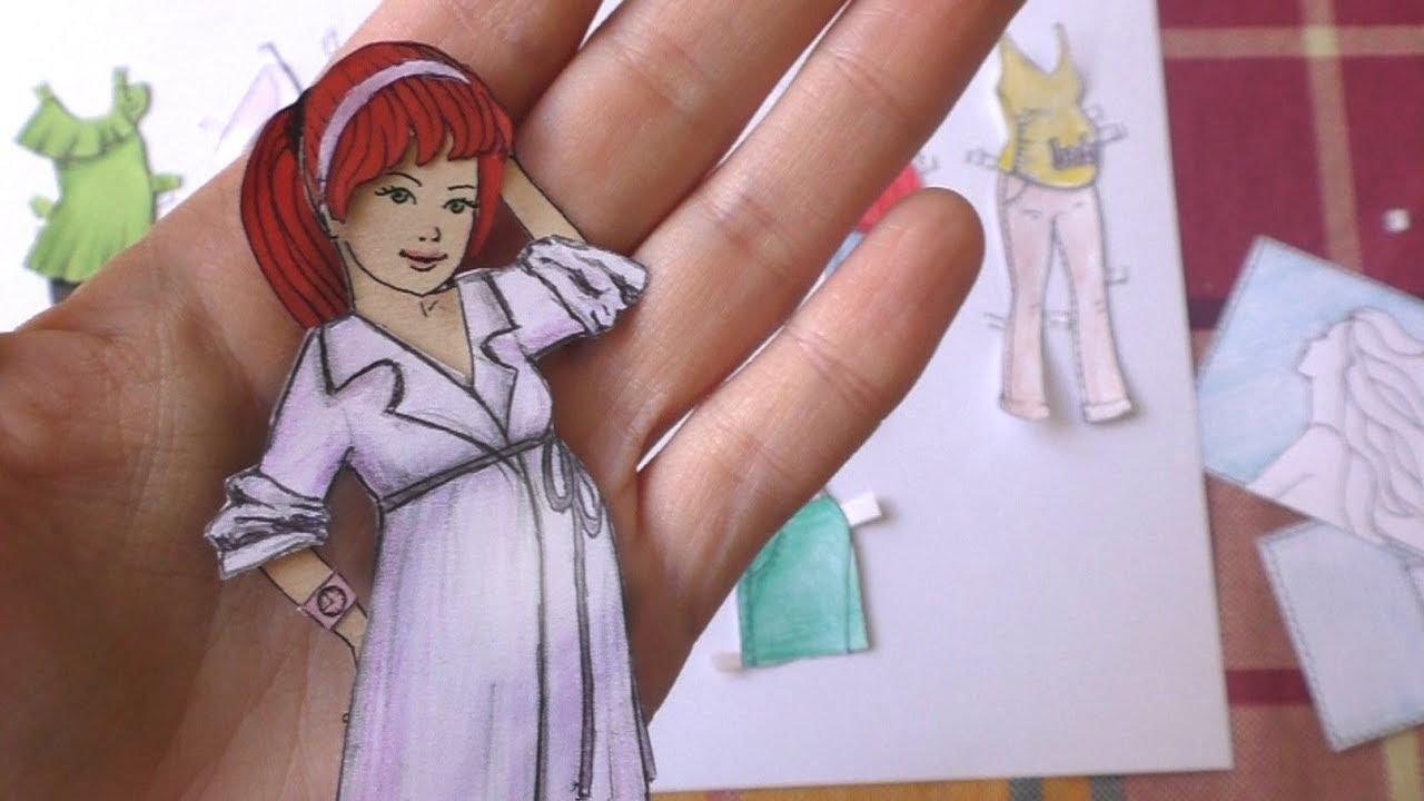 Беременная кукла из бумаги с одеждой - новые БУМАЖНЫЕ ...
