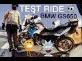 TEST RIDE NA BMW GS650 SERTÃO MAIS CHAVE