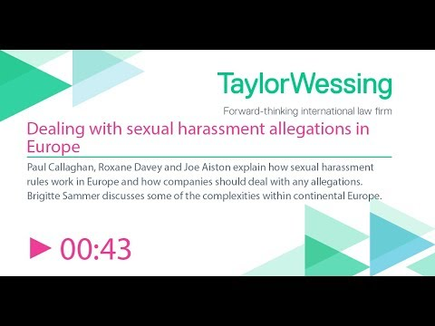 Dealing with sexual harassment allegations in Europe