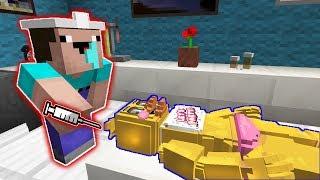 Доктор Нуб делает операцию Чика Аниматроник в Майнкрафт Операция Аниматроника в MInecraft