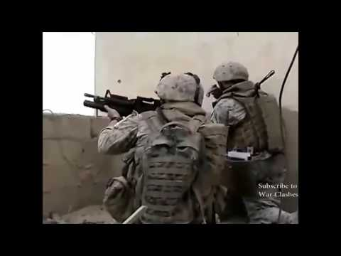 War | US Marines in Combat During Operation in Ramadi, Iraq War 2006