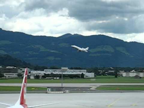 Privat Jet take off Salzburg