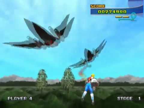 Sega Ages 2500 Series Vol. 4: Space Harrier (PS2 Gameplay)
