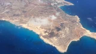 Посадка на Кипр (Ларнака) 18.07.2016(Airbus A321, а/к «Аэрофлот» Рейс SU2072, борт «Н. Жуковский», 2016-07-28T12:46:12.000Z)