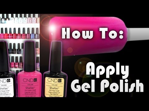 ♥♥How To Apply Gel Polish At Home... Using CND SHELLAC ♥♥