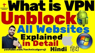 hindi how to unblock all websites   vpn explained in detail