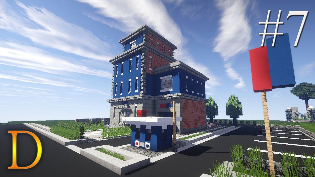 MINECRAFT PORADNIK  Jak zbudować posterunek policji  -> Kuchnie Kaflowe Jak Zbudować