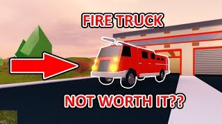 IS THE NEW FIRE TRUCK WORTH THE MONEY? // ROBLOX JAILBREAK