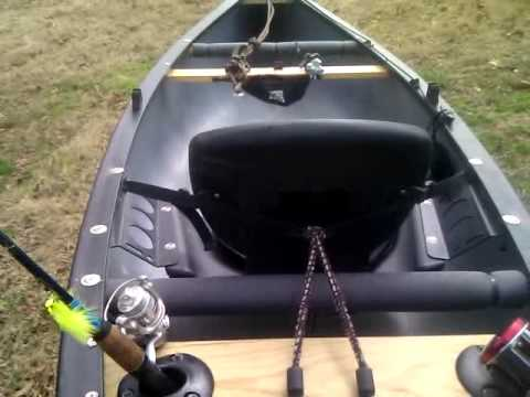 Old Town Guide 119 Solo Canoe Fishing Rig