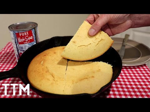 How To Bake Cornbread In A Cast Iron Skillet~Easy Cooking