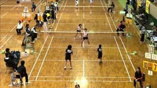 萩原/高橋 vs 村本/松山 4年準々決勝 全国小学生2015