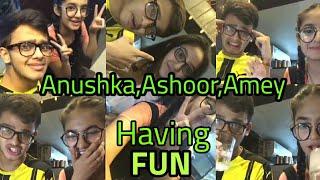 Anushka Sen , Ashnoor Kaur and Amey Pandya Chilling Together Having Fun Must Watch