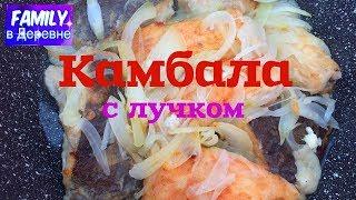 Рыба КАМБАЛА. Как быстро и вкусно приготовить рыбу с лучком