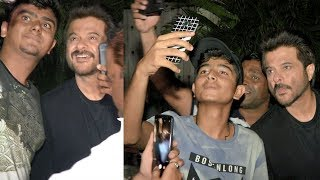 Anil Kapoor's Sweet Gesture By Taking Selfies With Fans Waiting For Long Time