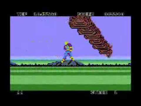 Space Harrier - port para Atari XL/XE - primer nivel